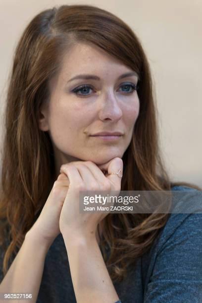 Portrait de Diane Ducret écrivain francobelge à l'occasion de la 34e Foire du Livre à BrivelaGaillarde en France le 7 novembre 2015