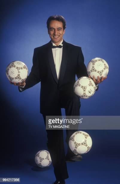 Portrait de Didier Roustan journaliste sportif le 7 avril 1989 à Paris France