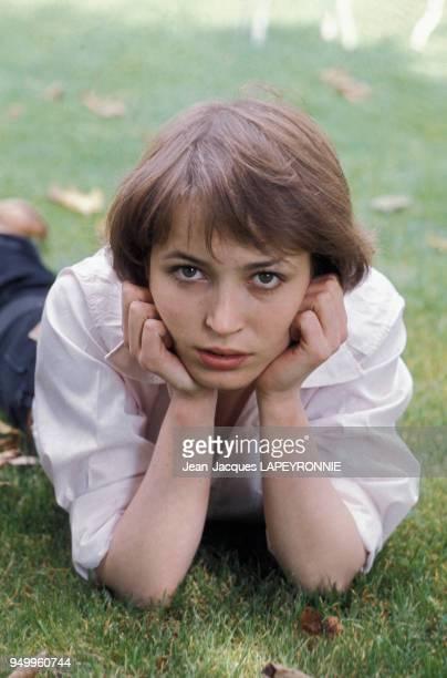 Portrait de Dominique Laffin actrice en septembre 1977 en France