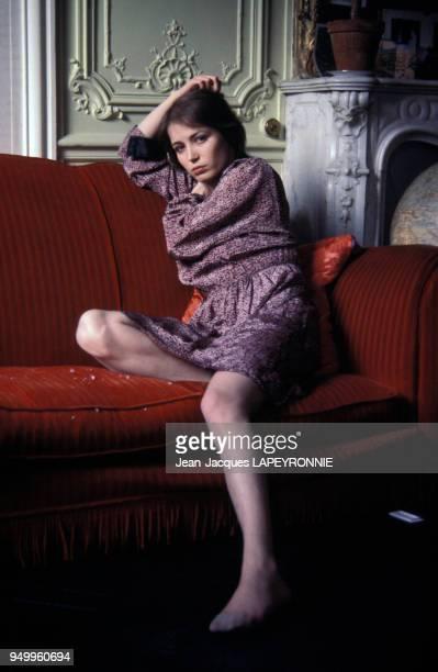 Portrait de Dominique Laffin actrice en septembre 1977 à Paris France