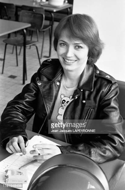 Portrait de Dominique Laffin à Paris en France en septembre 1977
