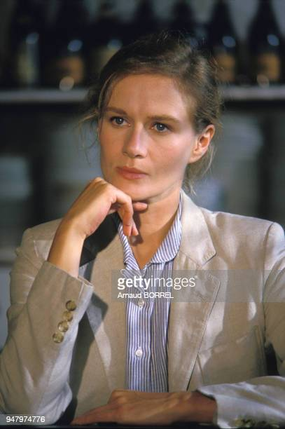 Portrait de Dominique Sanda actrice en septembre 1986 en France