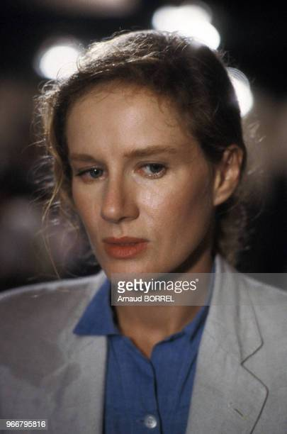 Portrait de Dominique Sanda lors du tournage du film 'Les Mendiants' de Benoît Jacquot le 18 septembre 1986 en France