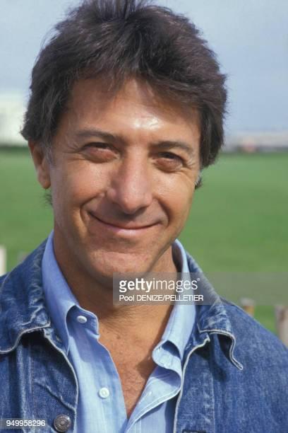 Portrait de Dustin Hoffman le 8 septembre 1985 à Deauville France