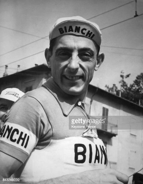 Portrait de Fausto Coppi à Turin Italie en 1951