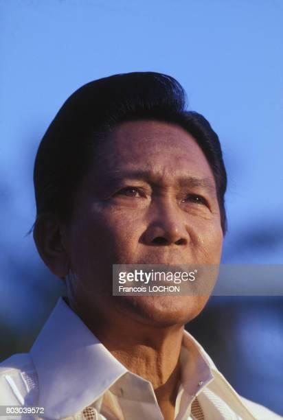 Portrait de Ferdinand Marcos président des Philippines en mars 1978 aux Philippines