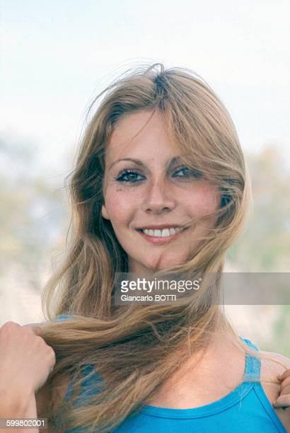 Portrait de France Dougnac actrice circa 1970 en France