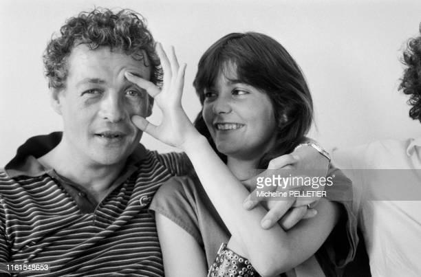 Portrait de François Léotard et Ariel Besse lors du Festival de Cannes le 24 mai 1982 France