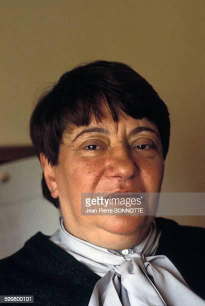 Portrait de Françoise Verny directrice littéraire en mai 1983 à Paris France