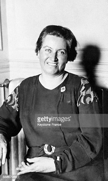 Portrait de Gabrielle Mistal lauréate du Prix Nobel de Littérature le 16 novembre 1945