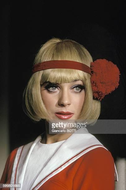 Portrait de Geneviève Grad actrice circa 1960 en France
