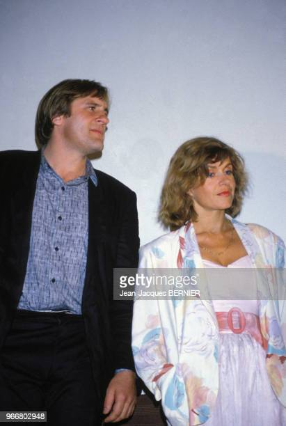Portrait de Gérard et Elisabeth Depardieu le 24 juin 1984 à Sète France