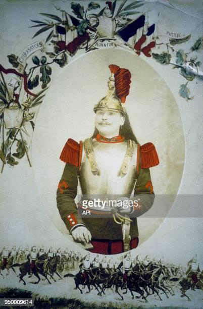 Portrait de Guillaume II de Prusse régiment des Cuirassiers lors de la Première Guerre Mondiale