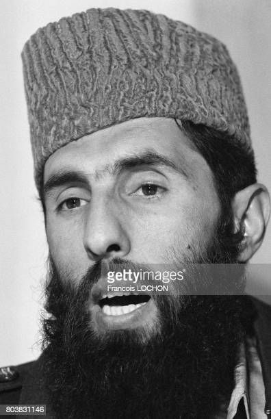 Portrait de Gulbudin Hekmatyar leader afghan du parti islamiste HezbEIslami le 13 février 1980 à Kaboul Afghanistan