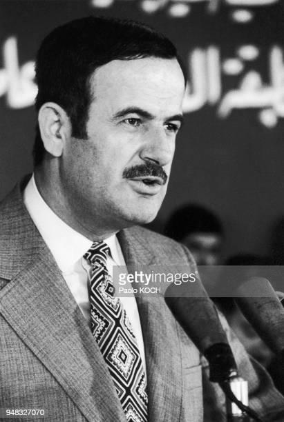 Portrait de Hafiz alASSAD le président syrien à Damas vers 1970