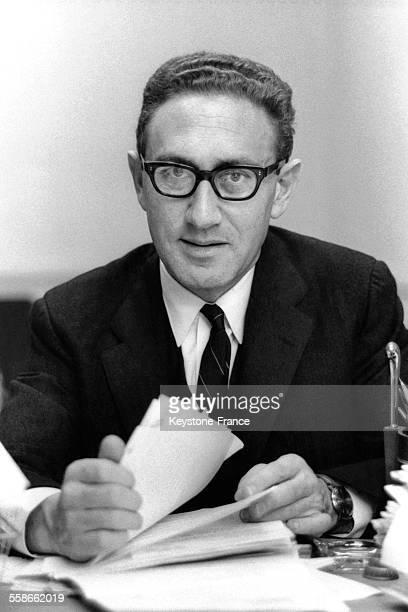 Portrait de Henry Kissinger eux EtatsUnis le 24 décembre 1968