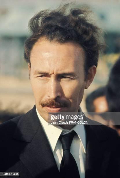 Portrait de Houari Boumédiène dans les années 70 ALger Algérie