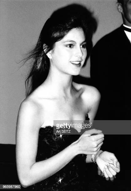 Portrait de Isabel Iglesias, fille du chanteur espagnol Julio Iglésias le 13 mars 1988 à Miami, Floride.
