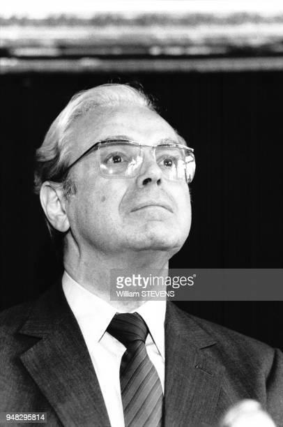 Portrait de Javier Pérez de Cuéllar le 8 septembre 1988 à Verdun France