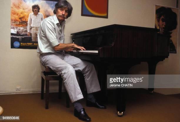 Portrait de Jean Ferrat en novembre 1985 à Paris France