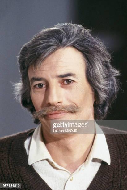 Portrait de Jean Ferrat le 15 novembre 1980 à Paris France