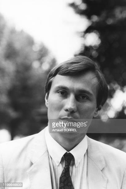 Portrait de JeanMarie Bockel Secrétaire d'état au Commerce à l'Artisanat et au Tourisme le 2 août 1984 France