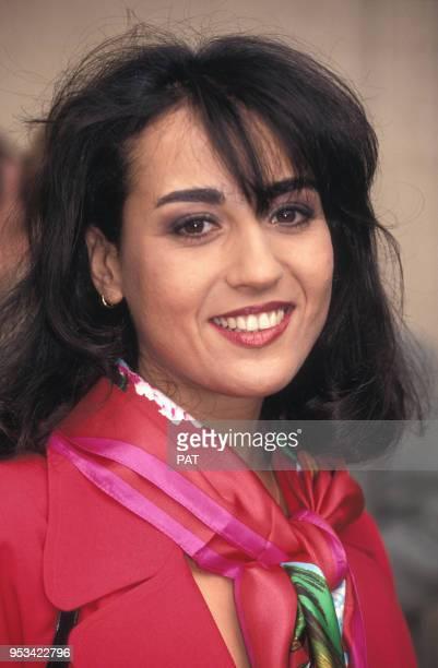 Portrait de Jocya Macias en février 1992 à Paris, France.