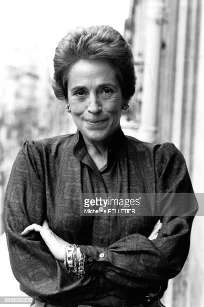 Portrait de la candidate indépendante du RPR MarieFrance Garaud circa 1980 en France
