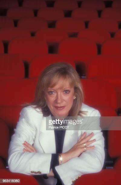 Portrait de la chanteuse Alice Dona en septembre 1991 à Paris France