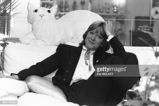 Portrait de la chanteuse Alice Dona le 27 février 1984 Paris France