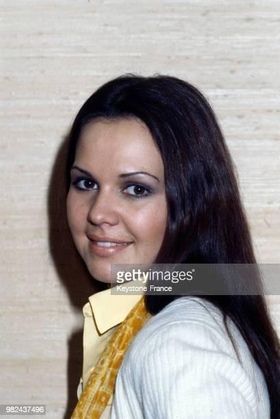 Portrait de la chanteuse AnneMarie David qui a représenté la France à l'Eurovision à Paris France le 16 mars 1979