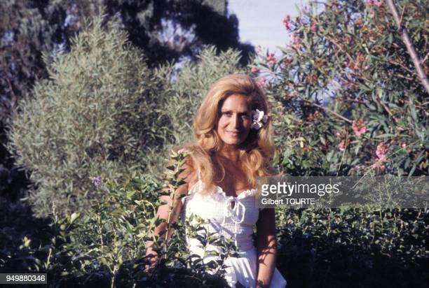 Portrait de la chanteuse Dalida, circa 1980 en France.