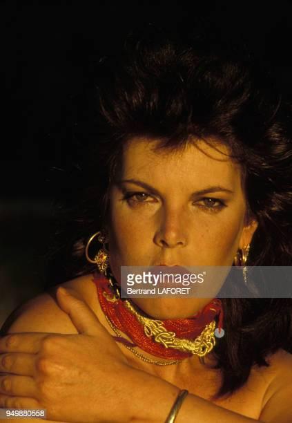 Portrait de la chanteuse Dani circa 1970 en France