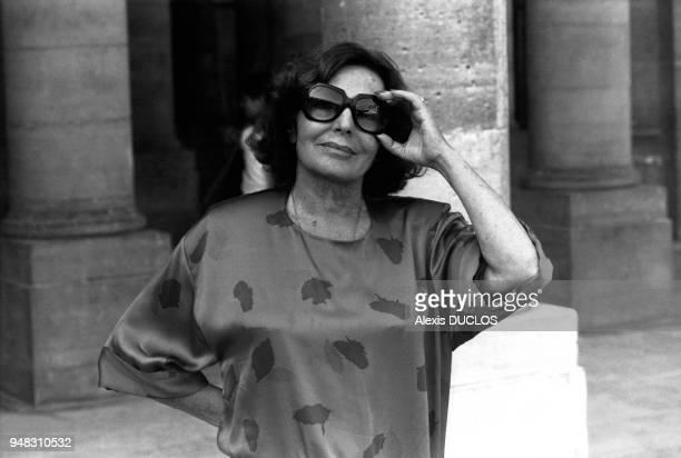 Portrait de la chanteuse de fado Amalia Rodrigues en septembre 1985 à Paris France