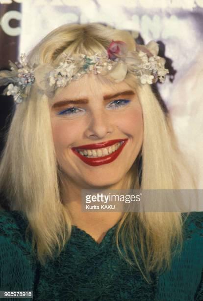 Portrait de La Cicciolina à Tokyo le 22 avril 1988 Japon