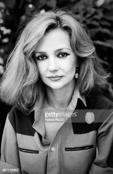 Portrait de la comédienne Caroline Cellier le 23 mai 1980 en France