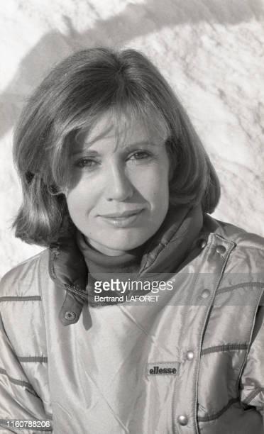 Portrait de la comédienne Catherine Alric lors du festival international du film fantastique d'Avoriaz Janvier 1984 France