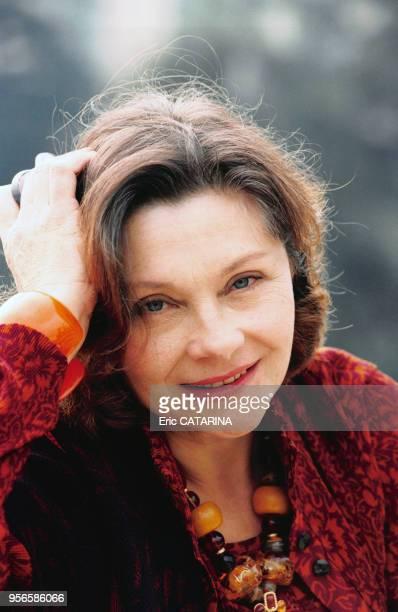 Portrait de la comédienne Macha Méril en février 1998 à Monte-Carlo, Monaco.