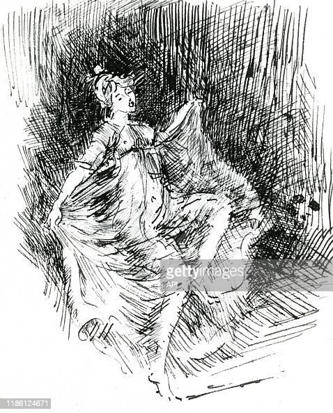 Portrait de la danseuse américaine Loïe Fuller par James Abbott... News  Photo - Getty Images