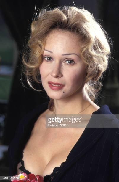 Portrait de la danseuse polonaise Alexandra Lorska en avril 1993 à Paris France