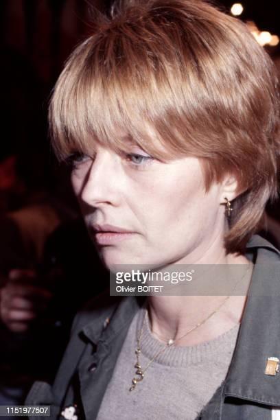 Portrait de la dessinatrice Claire Bretécher le 29 janvier 1983 à Angoulême France