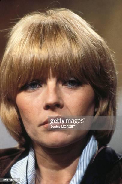 Portrait de la dessinatrice Claire Bretécher le 31 mars 1978 à Paris, France.