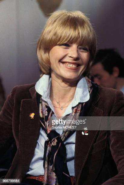 Portrait de la dessinatrice Claire Bretécher le 31 mars 1978 à Paris France