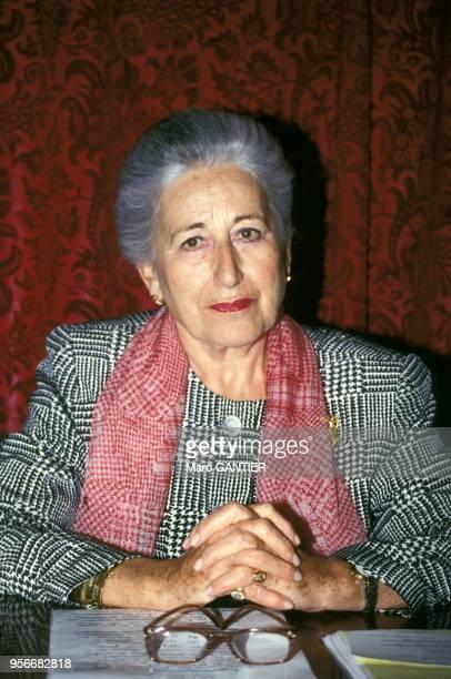 Portrait de la femme d'affaires française Gilberte Beaux en 1994