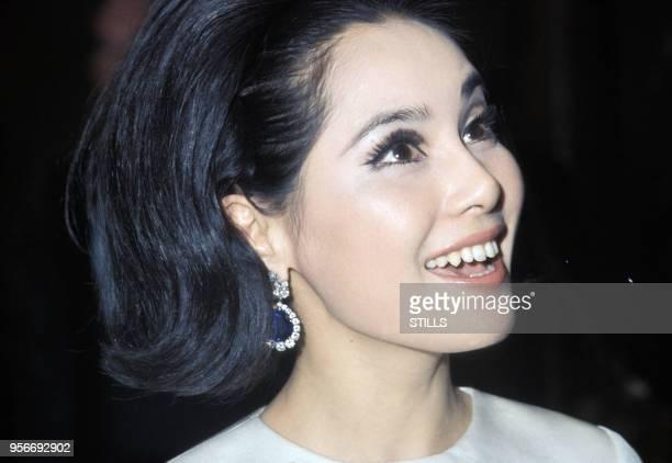 Portrait de la femme d'affaires japonaise et veuve du président indonésien Sukarno Dewi Sukarno circa 1980