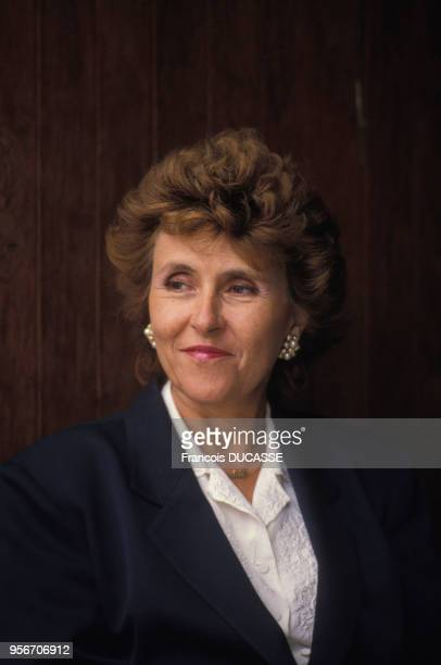 Portrait de la femme politique française Edith Cresson