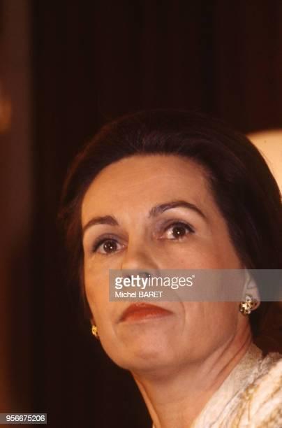 Portrait de la femme politique française MarieFrance Garaud