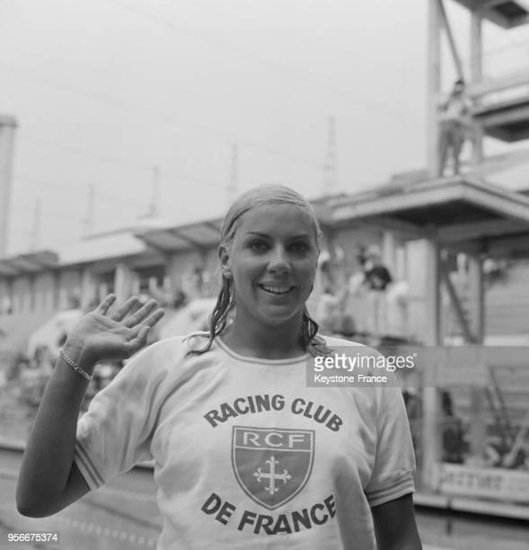 Portrait de la nageuse française Christine Caron