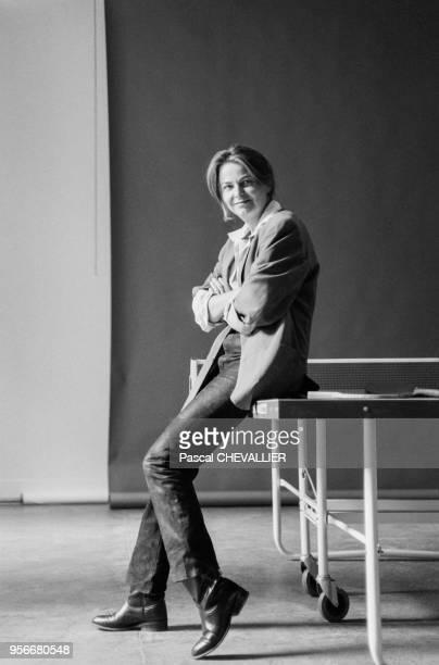Portrait de la photographe française Bettina Rheims, en décembre 1992.