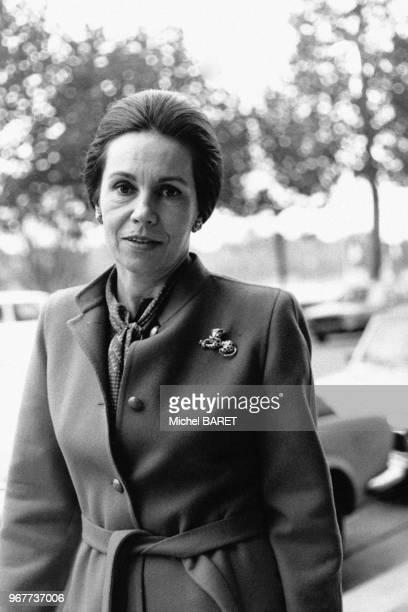 Portrait de la politicienne française MarieFrance Garaud le 25 octobre 1980